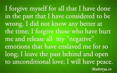 Affirmation for Forgiveness