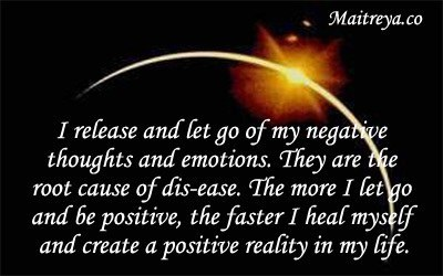 Affirmation for Letting Go Negative Thought and Emotion
