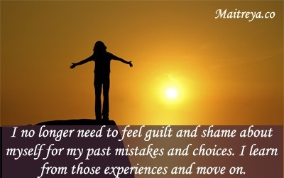 Affirmation for Letting Go of Guilt and Shame