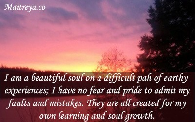 Affirmation for Letting Go of Fear and Pride