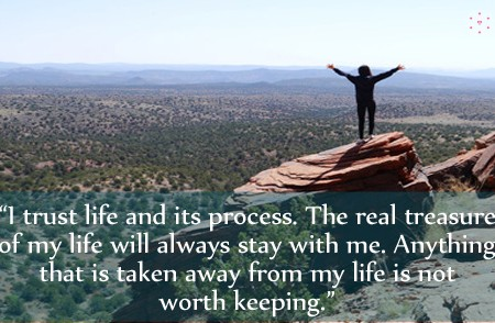 Affirmation for Trust Life and Its Process