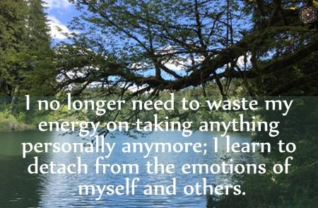 Affirmation for Emotional Detachment