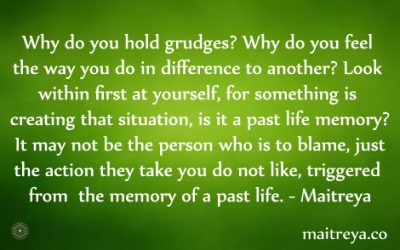 Maitreya Quote on Past Life Memory